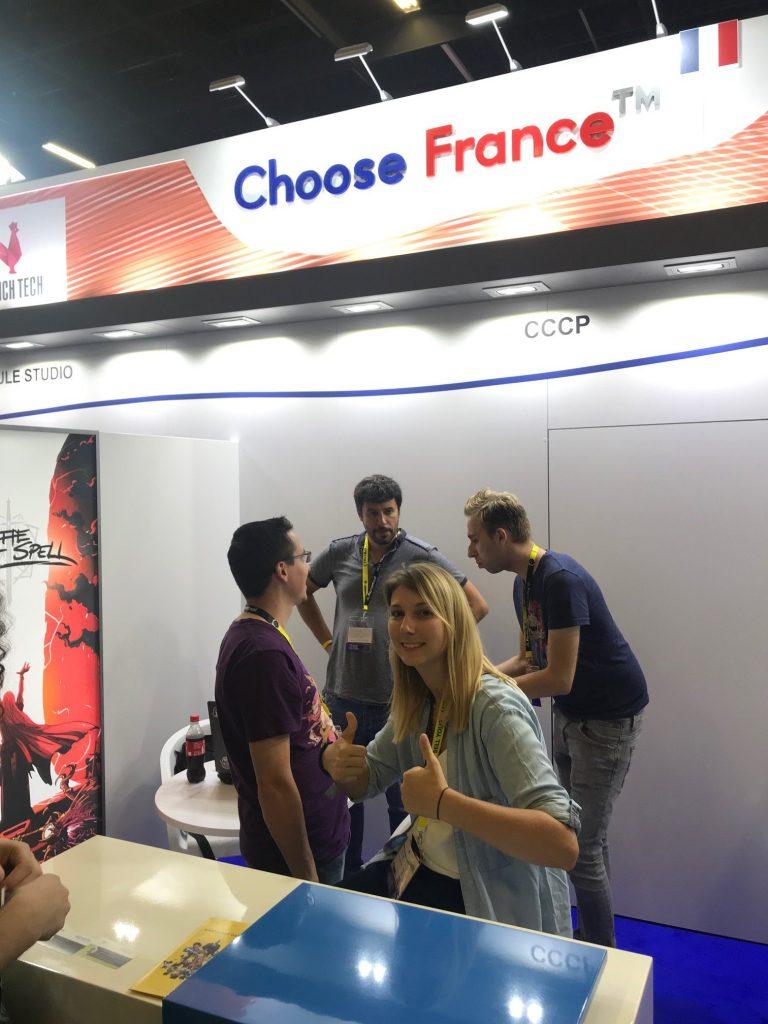 Gamescom - Photo de l'équipe sur le stand