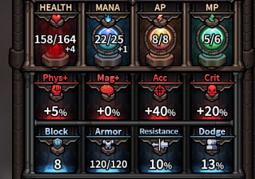 The Last Spell - Stats