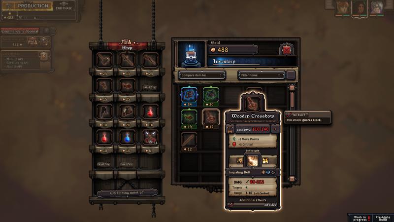The Last Spell Presskit - Shop Screen